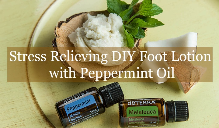 Stress Relieving DIY Foot Lotion with Peppermint Oil