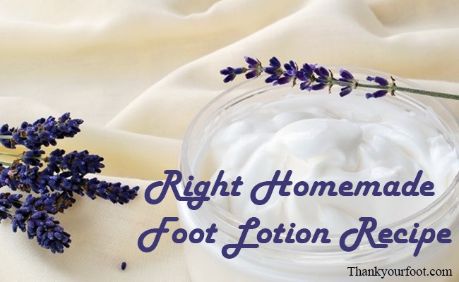 Right Homemade Foot Lotion Recipe