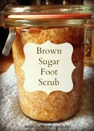 Brown sugar works as a great scrub to help rid yourself of thick calluses on feet.
