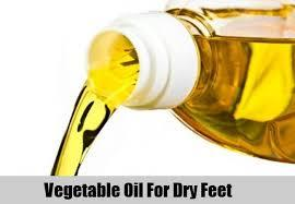Vegetable oil help moisturize and soften thick calluses on feet