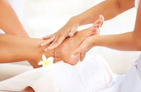 For good total foot care, scrub off dead skin cells that may contain bacteria or fungus that may lead to infection.